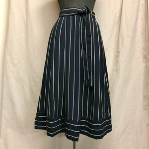 Banana Republic Blue and White Striped Skirt